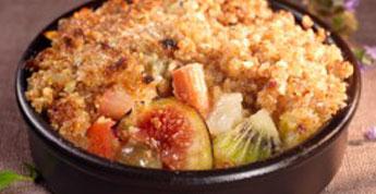 Crumble de Quinoa aux fruits d'automne