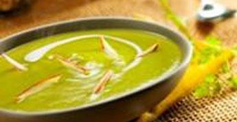 Velouté de pois cassés au curry doux